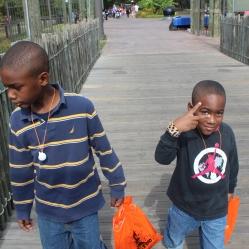 Boys at the zoo in Louisiana