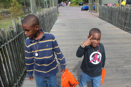 Boys at the zoo in Louisiana