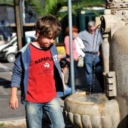 Young boy in Rome, Italy