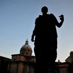 Statue of Julius Caesar in Rome, Italy