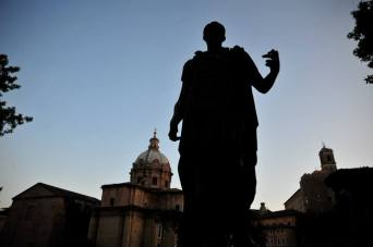 Statue of Julius Caesar in Rome, Italy