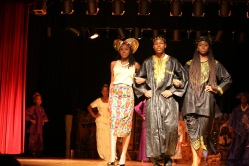 Teens model during African fashion show in Rochester,NY