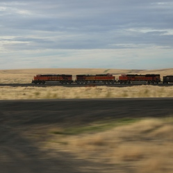 Train speeds down railroad