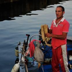 Italian man on boat