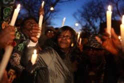 Mothers at a vigil