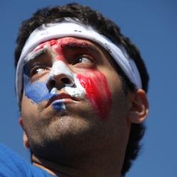 American shows spirit at soccer game
