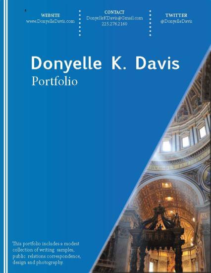 Cover_DonyelleKDavis_Portfolio