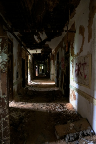 Forest Haven mental asylum hallway
